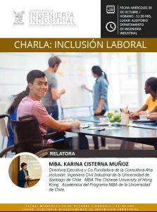 [:es]CHARLA: INCLUSIÓN LABORAL[:] @ Departamento Ingeniería Industrial Universidad de Santiago de Chile