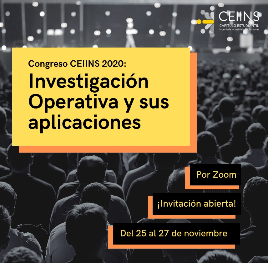 Invitación Congreso IO 25 al 27 Noviembre 2020