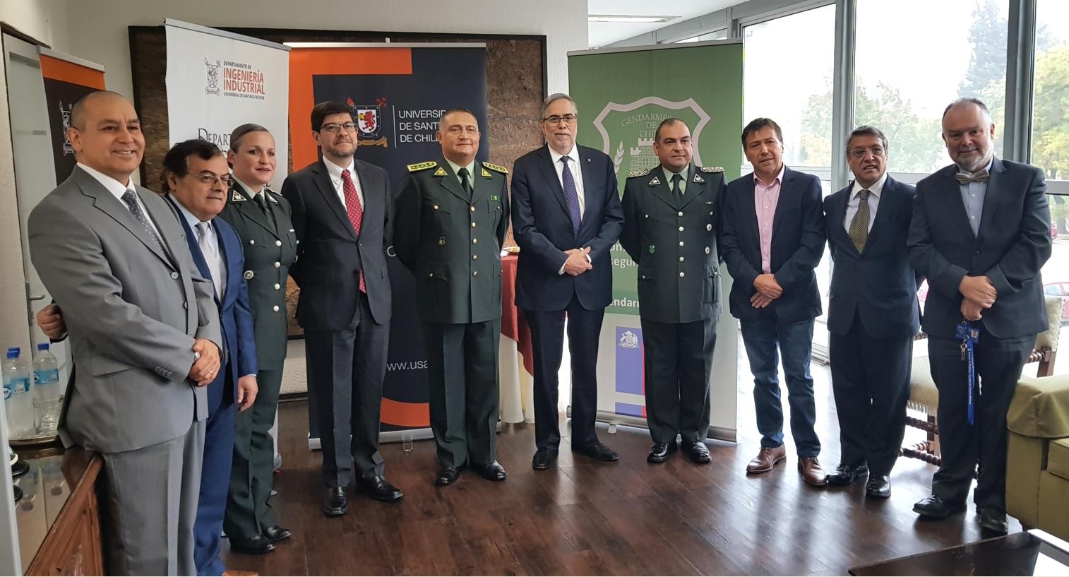 Universidad de Santiago firma convenio con Gendarmería de Chile para el desarrollo de estudios y proyectos tecnológicos.