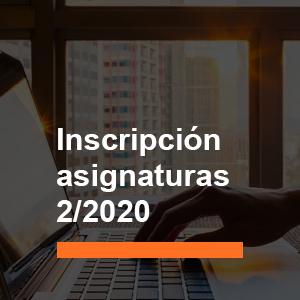 Proceso de inscripción a asignaturas 2/2020